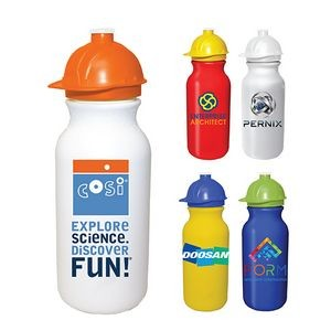 20 Oz. Value Cycle Bottle w/ Safety Helmet Push 'n Pull Cap, Full Color Digital
