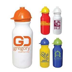 20 Oz. Value Cycle Bottle w/ Safety Helmet Push 'n Pull Cap