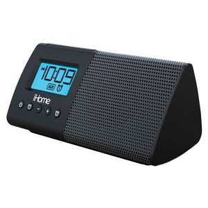 Portable Speaker System w/ Dual Alarm Clock, Line-In Rack & USB Charging