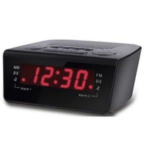 Alarm Clock With Am/Fm Radio And Dual Digital