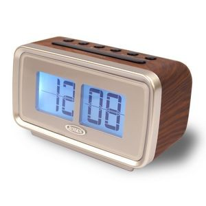 "Jensen® AM/FM Dual Alarm Clock with Digital Retro ""Flip"" Display"