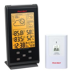 First Alert® Radio Controlled Weather Station Clock