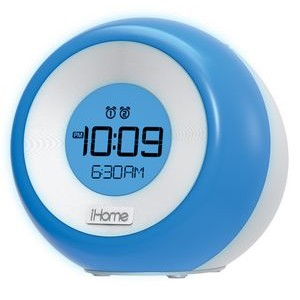 Color Changing, Dual Alarm FM Clock Radio w/ USB Charging Port