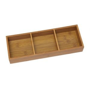 Bamboo 3 Compartment Organizer Tray