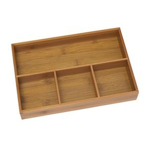 Bamboo 4 Compartment Organizer Tray
